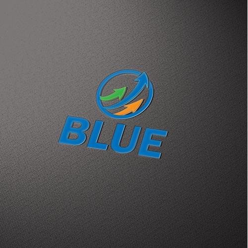Blue logo design